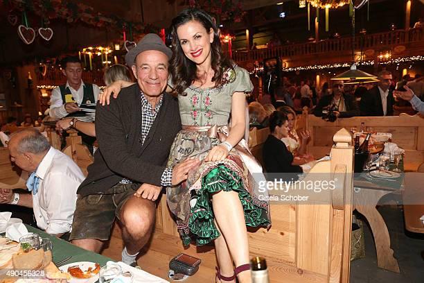 Heiner Lauterbach and his wife Viktoria Lauterbach during the 'Sauerland Stammtisch' at Oktoberfest 2015 at Weinzelt /Theresienwiese on September 28...