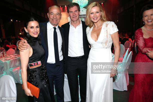 Heiner Lauterbach and his wife Viktoria Lauterbach Veronica Ferres and her husband Carsten Maschmeyer during the Toni Kroos charity gala benefit to...