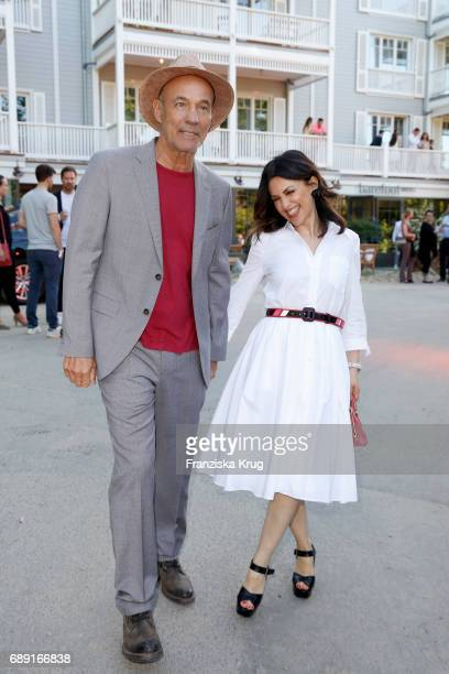 Heiner Lauterbach and Viktoria Lauterbach during Til Schweiger's opening of his 'Barefoot Hotel' on May 28 2017 in Timmendorfer Strand Germany