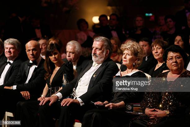 Heiner Lauterbach Viktoria Lauterbach Gerhard Toetschinger and Christiane Hoerbiger attend the 'Semper Opera Ball 2013' on February 1 2013 in Dresden...