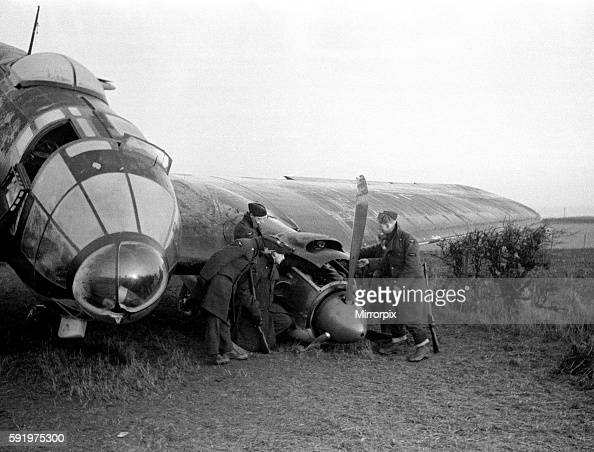 Heinkel 111 brought down in Scotland circa 1939