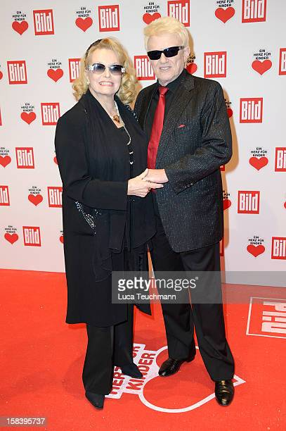 Heino and Hannelore attend 'Ein Herz Fuer Kinder Gala 2012' Red Carpet Arrivals at Axel Springer Haus on December 15 2012 in Berlin Germany