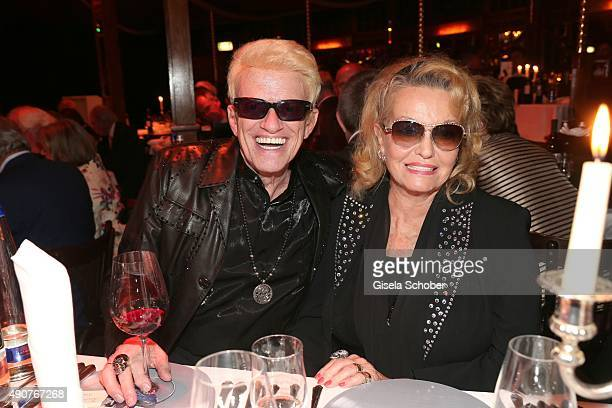 Heino and his wife Hannelore during Ralph Siegel's 70th birthday party at Schuhbeck's Teatro on September 30 2015 in Munich Germany