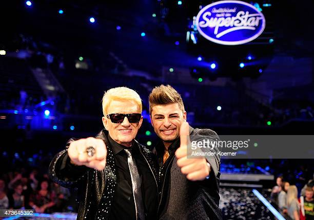 Heino and Severino Seeger are seen during the live finals of the television show 'Deutschland sucht den Superstar' on May 16 2015 in Bremen Germany...