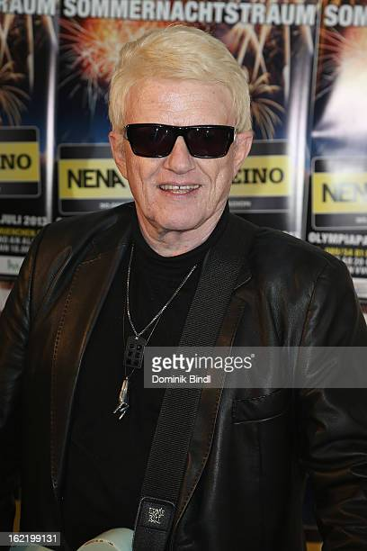 Heino appears at the photocall of the Muenchner Sommernachtstraum 2013 in Olympiapark on February 20 2013 in Munich Germany