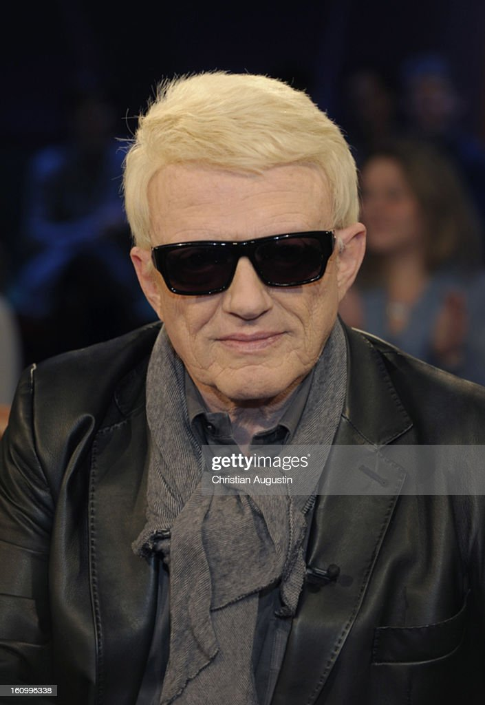 Heino (Heinz Georg Kramm) attends a photocall for NDR Talk Show at NDR TV Studio on February 8, 2013 in Hamburg, Germany.