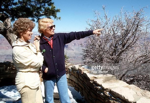 'Heino Ehefrau Hannelore Kramm während 3 USATournee am im Grand Canyon USA '