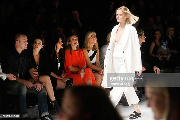 Heino Ferch Marie Jeanette Ferch Viktoria Lauterbach Ursula Karven and Judith Milberg attend the Laurel show during the MercedesBenz Fashion Week...