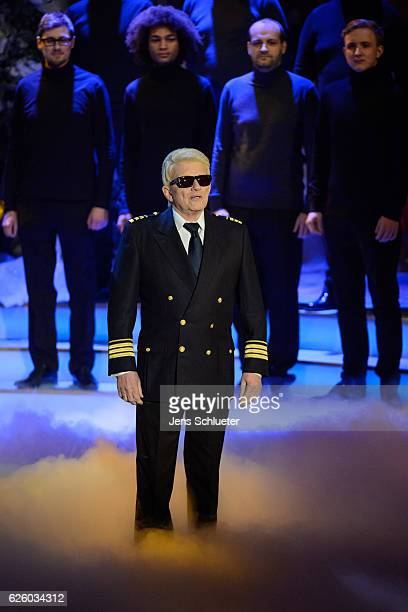 Heino is seen on stage during the tv show 'Das Adventsfest der 100000 Lichter' on November 26 2016 in Suhl Germany