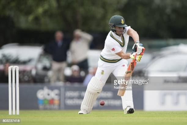 Heino Kuhn of South Africa A batting during a tour match between England Lions and South Africa A at New Road on June 29 2017 in Worcester England