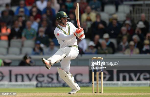 Heino Kuhn of South Africa bats during the second day of the 4th Investec Test match between England and South Africa at Old Trafford cricket ground...