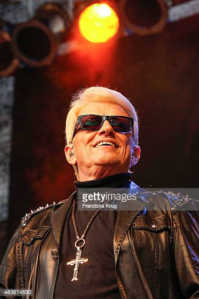 Heino performs at the City Outlet Bad Muenstereifel Opening on August 14 2014 in Bad Muenstereifel Germany