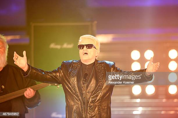 Heino performs during the national tv show 'Willkommen bei Carmen Nebel' at TUI Arena on March 28 2015 in Hanover Germany