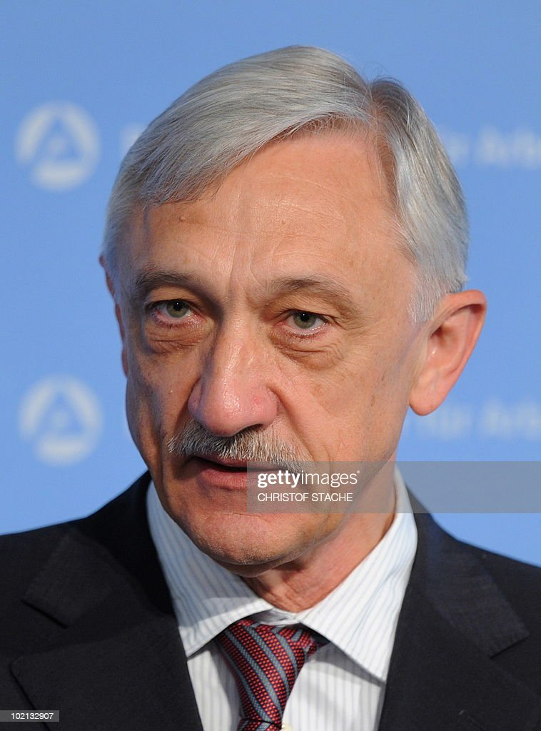 Heinrich Alt, member of the board of the German Bundesagentur fuer Arbeit (German Federal Employment Agency), pictured during a news conference in Nuremberg, June 1, 2010.