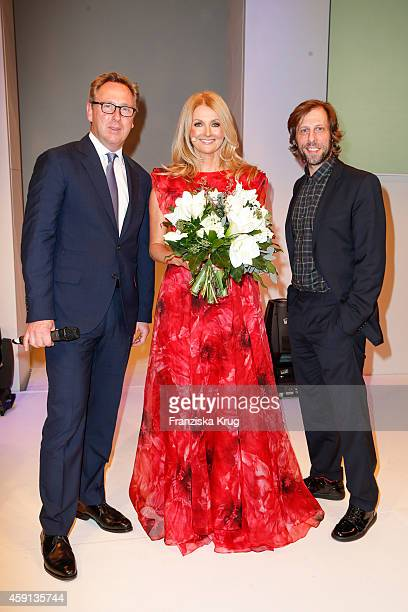 Heinrich Deichmann Frauke Ludowig and Oliver Korittke attend the Deichmann Shoe Step of the Year 2014 on November 17 2014 in Hamburg Germany