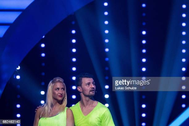 Heinrich Popow and Kathrin Menzinger are focused during the 8th show of the tenth season of the television competition 'Let's Dance' on May 12 2017...