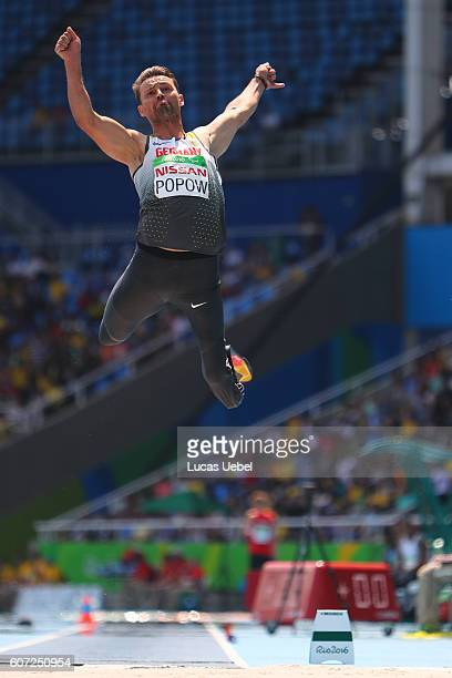 Heinrich Popow of Germany competes in the Men's Long Jump T42 final during day 10 of the Rio 2016 Paralympic Games at the Olympic Stadium on...