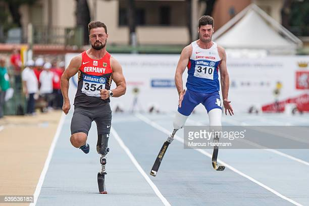 Heinrich Popow of Germany during men 100m class T42 at the IPC Athletics European Championships at Stadio Carlo Zecchini on June 11 2016 in Grosseto...