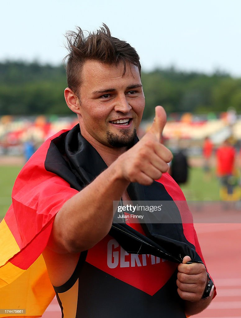 Heinrich Popow of Germany wins Gold in the Men's 100m T42 final during day seven of the IPC Athletics World Championships on July 26, 2013 in Lyon, France.