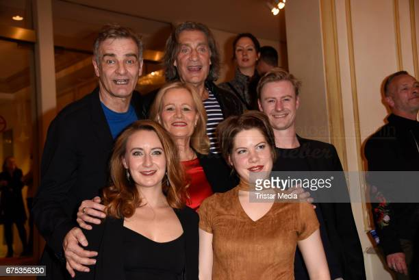 Heinrich Schafmeister Winfried Glatzeder Claudia Rieschel Eric Bouwer Luise Schubert and Annalena Mueller attend the 'Wir sind die Neuen' Premiere at...