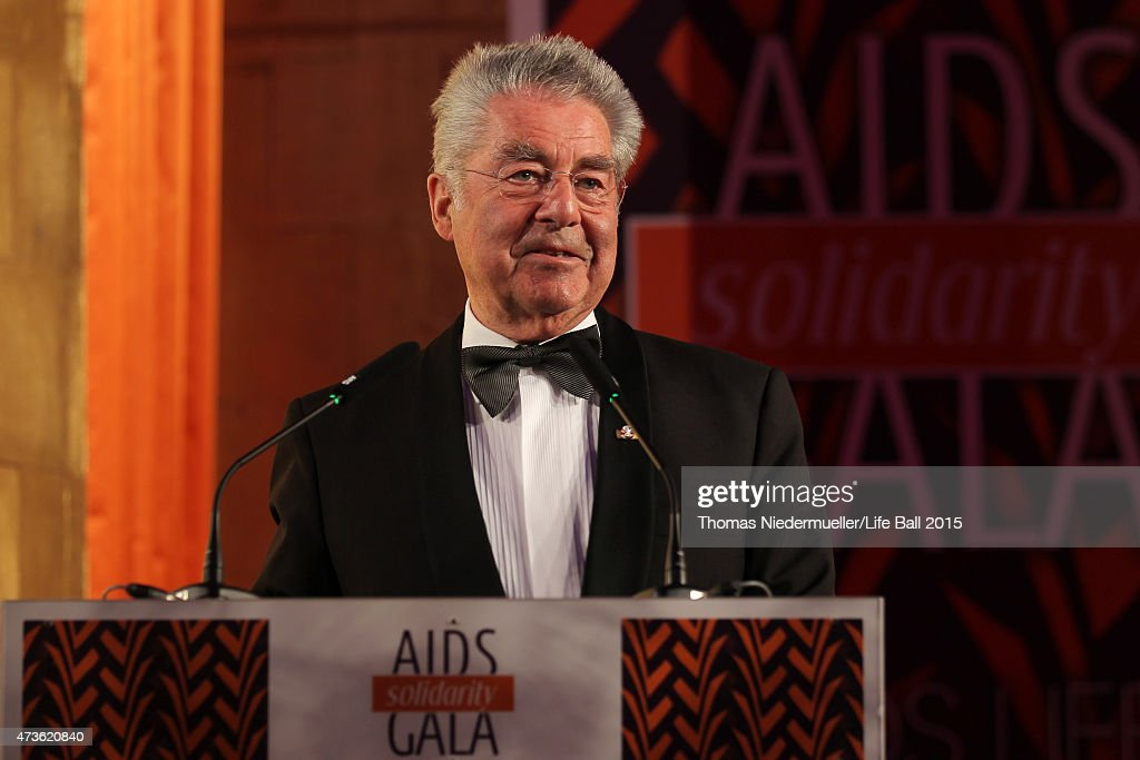Heinz Fischer speaks at the AIDS Solidarity Gala at Hofburg Vienna on May 16, 2015 in Vienna, Austria.