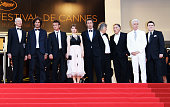 Heinz Lieven Liron Levo Sean Penn Eve Hewson director Paolo Sorrentino guest Judd Hirsch David Byrne and Simon Delaney attend attends the 'This Must...