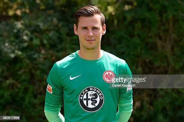 Heinz Lindner poses during the Eintracht Frankfurt team presentation on July 15 2015 in Frankfurt am Main Germany