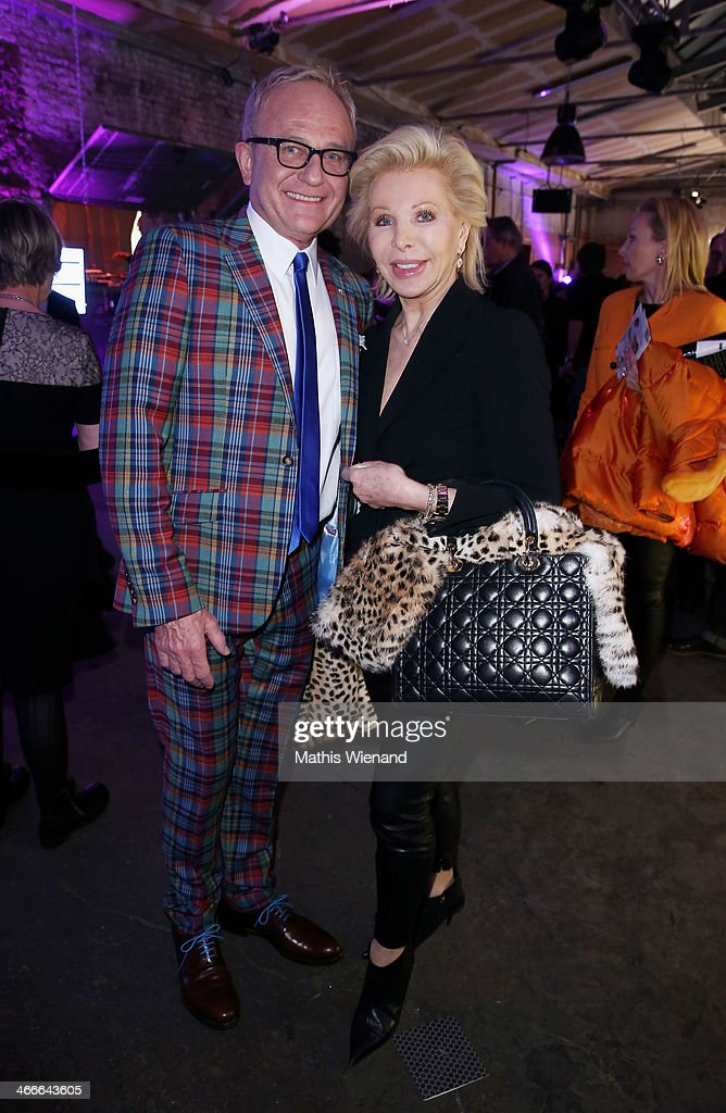 Heinz-Richard Heinemann and Ute Ohoven attend the Thomas Rath fashion show during Platform Fashion Dusseldorf on February 2, 2014 in Dusseldorf, Germany.