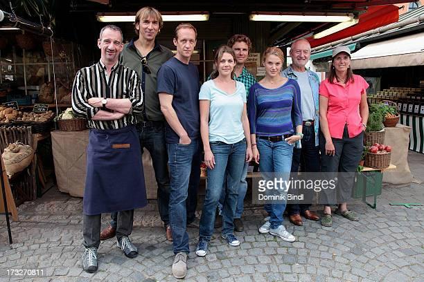 Heio von Stetten Arnd Schimkat Stephan Kampwirth Felicitas Woll Leonhard Reisinger EvaMaria Grein von Friedl Sepp Schauer and Sibylle Tafel pose...