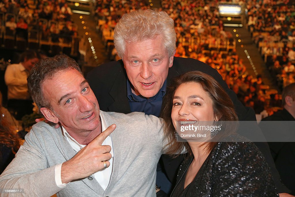 Heio von Stetten, Miroslav Nemec and Elisabeth Romano attend the show 10 years of Appassionata - Friends Forever on January 4, 2013 in Munich, Germany.