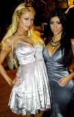 Heiress Paris Hilton and her friend Kim Kardashian in Darlinghurst on New Years Day on January 01 2007 in Sydney Australia