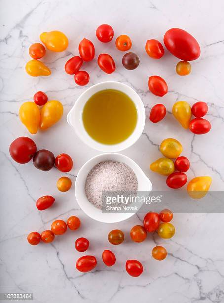 Heirloom Tomatoes with Olive Oil and Salt