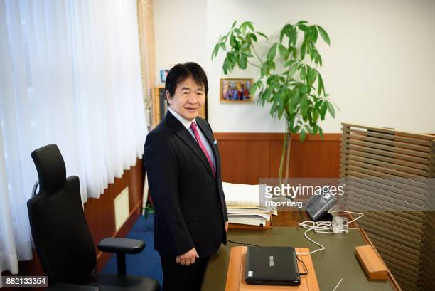 Heizo Takenaka professor at Toyo University and professor emeritus at Keio University poses for a photograph in Tokyo Japan on Monday Oct 16 2017...