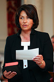 Hekia Parata takes her oath during a ceremony at Government House on December 14 2011 in Wellington New Zealand John Key was officially sworn in for...