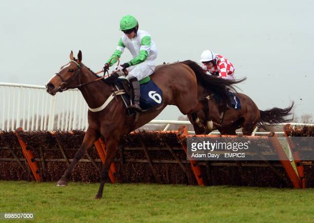 Hel Tara ridden by Jeremiah McGrath wins the 32Red on APP Store Mare's Maiden Hurdle Race