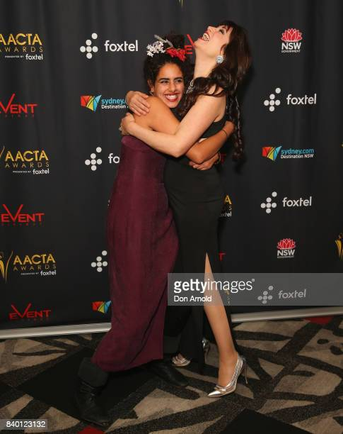Helana Sawires and Frances Duca attend the AACTA Festival of Australian Film opening night at Event Cinemas Bondi Junction on August 28 2017 in...