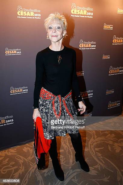 Actress Tonie Marshall attends the 'Diner Des Producteurs' Producer's Dinner Cesar 2015 Held at Hotel George V on February 16 2015 in Paris France