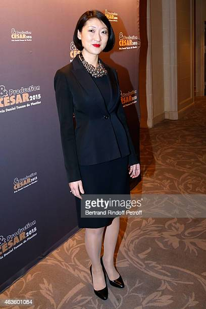 French minister of Culture and Communication Fleur Pellerin attends the 'Diner Des Producteurs' Producer's Dinner Cesar 2015 Held at Hotel George V...