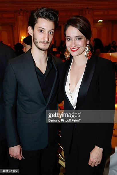 Actors Pierre Niney and Marie Gillain attend the 'Diner Des Producteurs' Producer's Dinner Cesar 2015 Held at Hotel George V on February 16 2015 in...