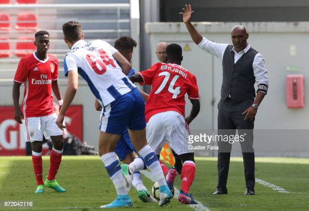 Helder Cristovao of SL Benfica B in action during the Segunda Liga match between SL Benfica B and FC Porto B at Caixa Futebol Campus on April 23 2017...