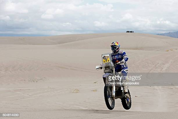 Helder Rodrigues of Portugal riding on and for YAMAHA WR450F YAMALUBE YAMAHA OFFICIAL RALLY TEAM competes on day 11 stage ten between Belen and La...