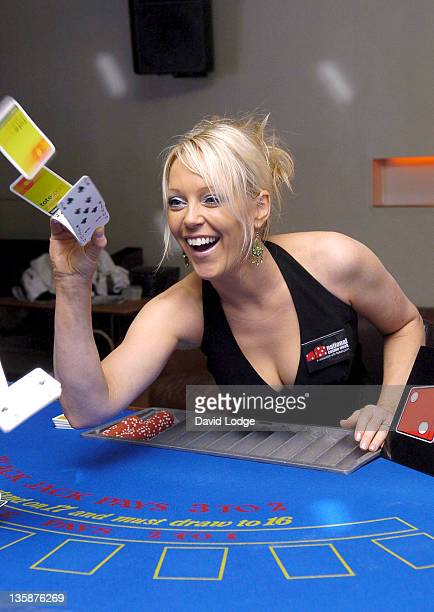 Helen Chamberlain during Helen Chamberlain Helps Launch National Casino Week April 11 2005 at The Whitehouse Bar in London Great Britain