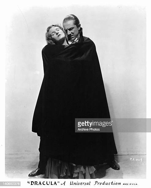 Helen Chandler in the clutches of Bela Lugosi in a scene from the film 'Dracula' 1931