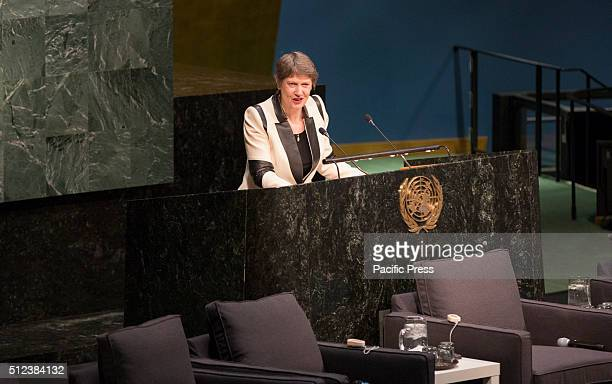 Helen Clark Administrator of the United Nations Development Programme during the Ministerial meeting on the occasion of the fiftieth anniversary of...