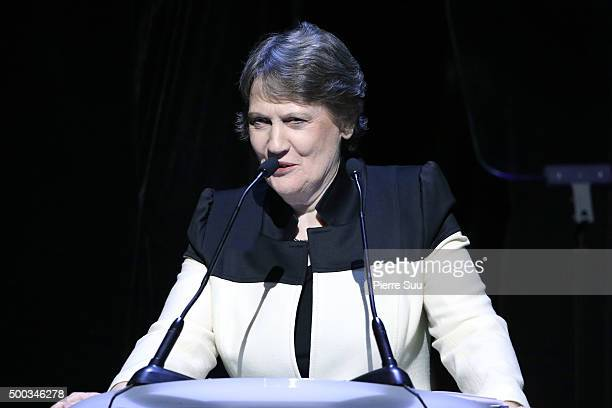 Helen Clark administrator UNDP presents the Equator Prize 2015 Award Ceremony at Theatre Mogador on December 7 2015 in Paris France