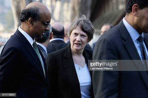 Helen Clark ambassador of the United Nations development program attends the G20 Finance Ministers and Central Bank Governors official group photo on...