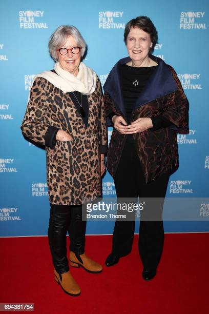 Helen Clark and Gaylene Preston arrive ahead of the world premiere of 'My Year With Helen' during the Sydney Film Festival at State Theatre on June...