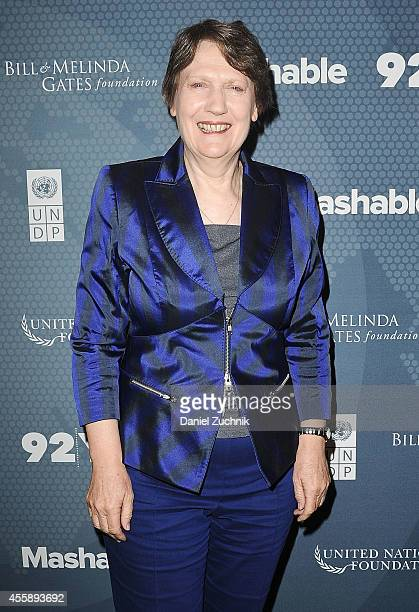 Helen Clark attends the 2014 Social Good Summit at 92Y on September 21 2014 in New York City