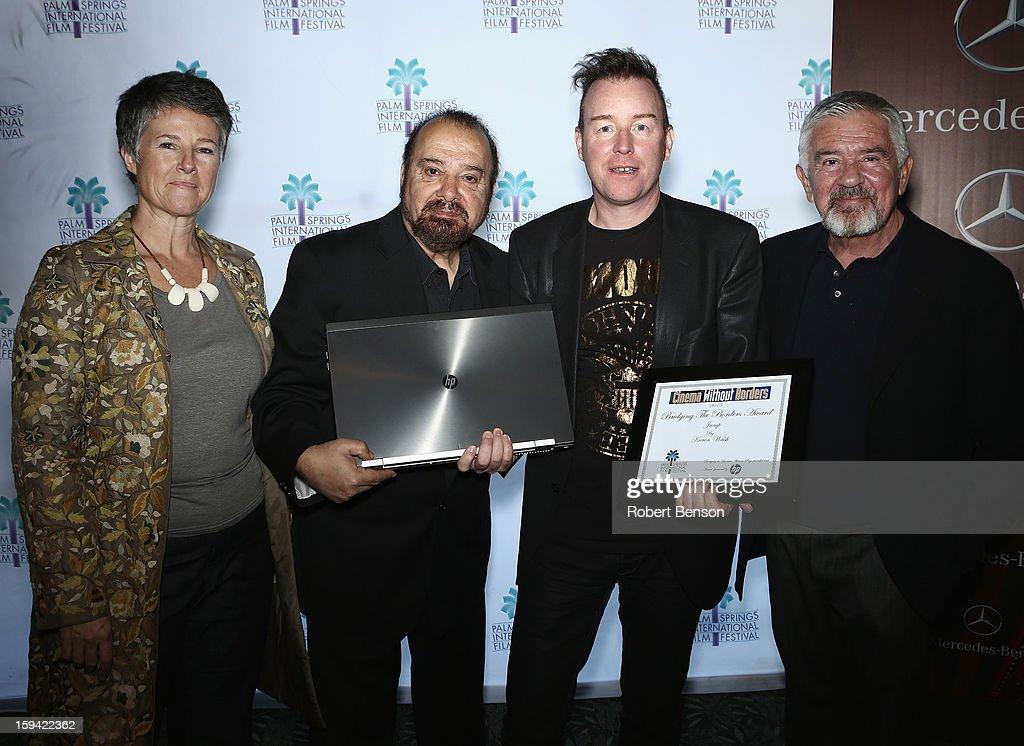 Helen Du Toit (L-R), Bijan Tehrani, Kieron Walsh and Darryl MacDonald at a Festival Awards Brunch at the 24th Annual Palm Springs International Film Festival on January 13, 2013 in Palm Springs, California.