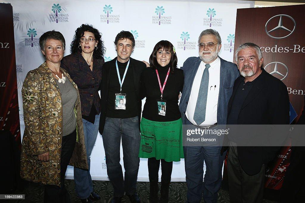 Helen Du Toit (L-R), Hebe Tabachnik, Juan Carlos Maneglia, Tana Schembori and Ivan Trujillo and Darryl MacDonald at a Festival Awards Brunch at the 24th Annual Palm Springs International Film Festival on January 13, 2013 in Palm Springs, California.